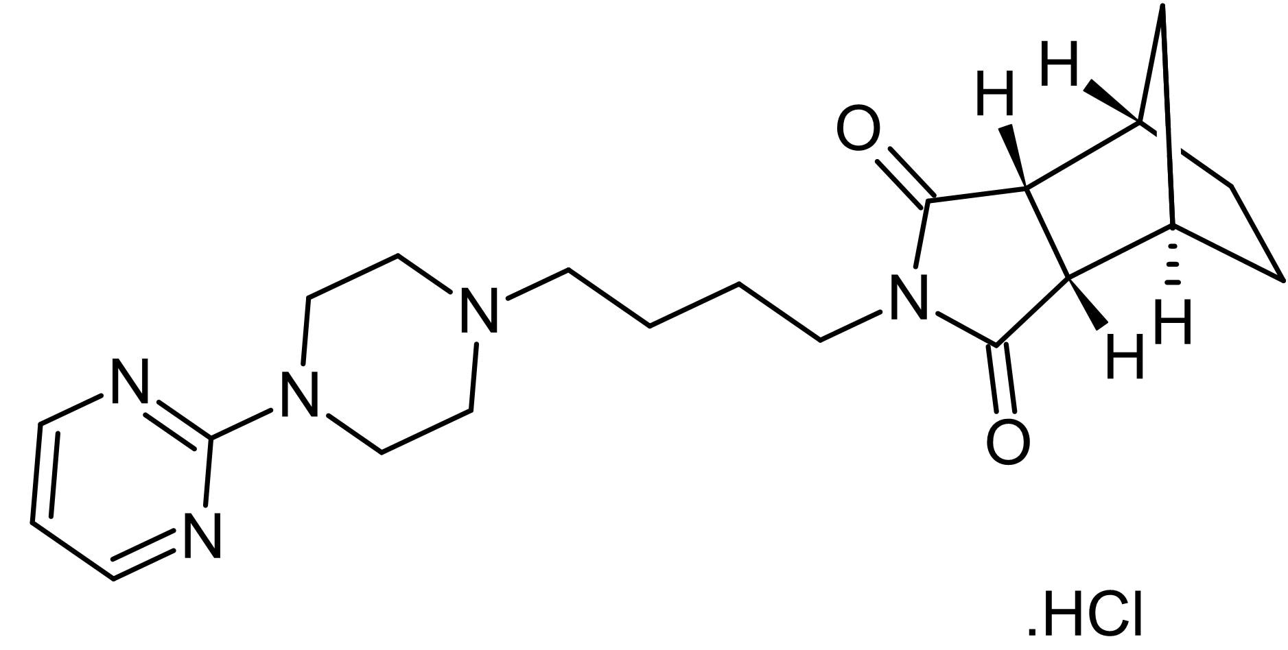 Chemical Structure - Tandospirone hydrochloride (Metanopirone), 5-HT<sub>1A</sub> partial agonist (ab146136)