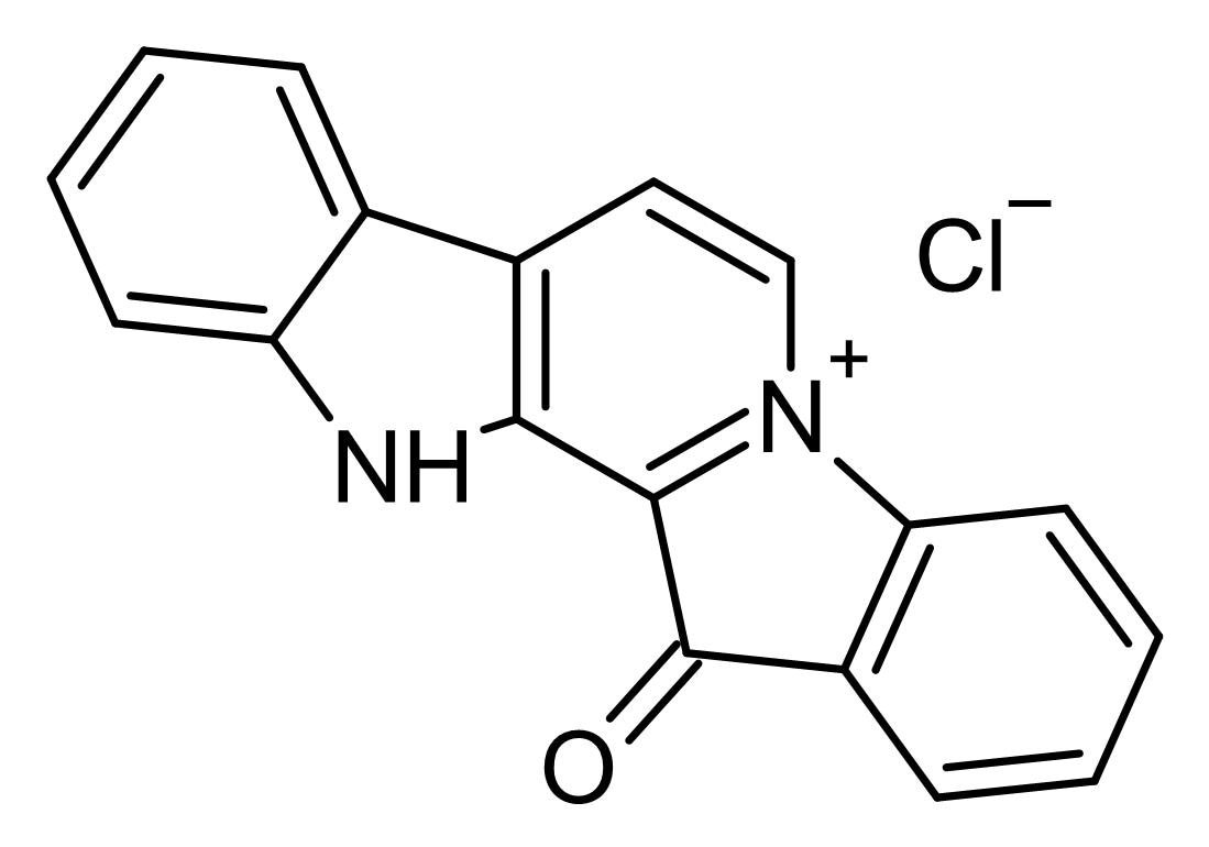 Chemical Structure - Fascaplysin, ATP-competitve CDK4 inhibitor (ab146177)
