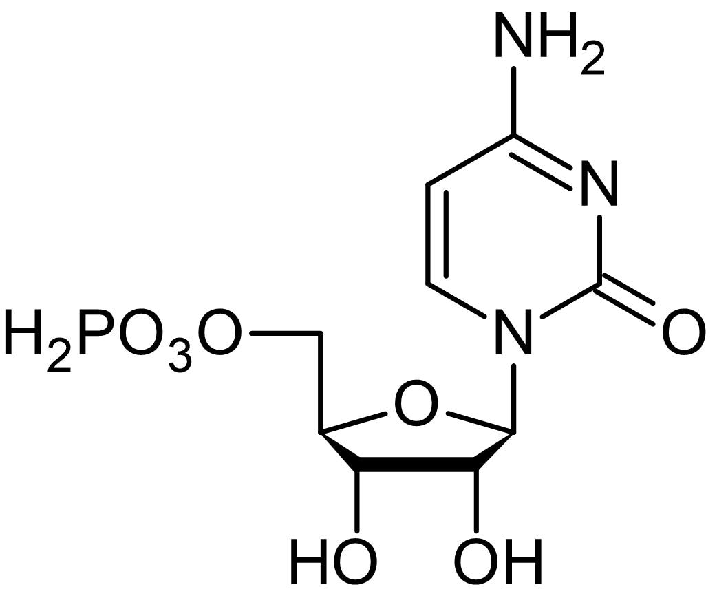 Chemical Structure - Cytidine-5'-monophosphate (CMP), Nucleoside monophosphate (ab146215)