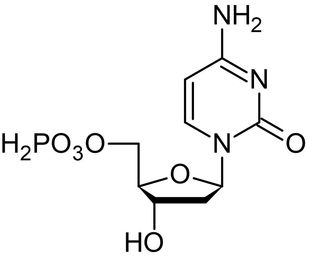 Chemical Structure - 2'-Deoxycytidine 5'-monophosphate, UMP/CMP kinase substrate (ab146216)