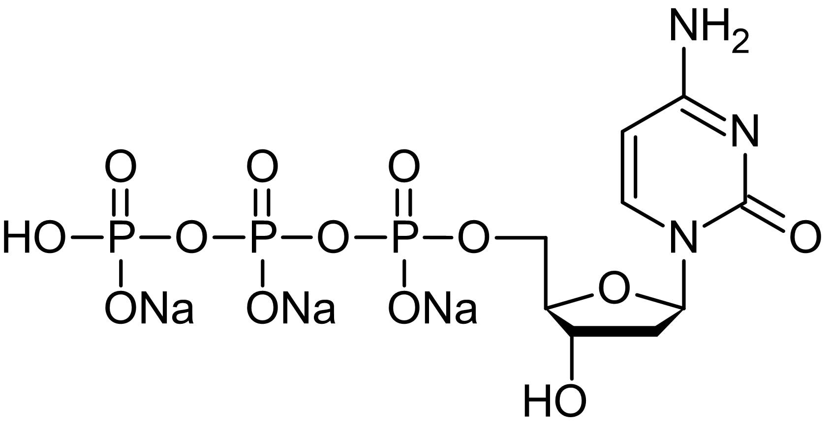 Chemical Structure - 2'-Deoxycytidine-5'-triphosphate [dCTP] trisodium salt solution, Nucleoside triphosphate (ab146220)