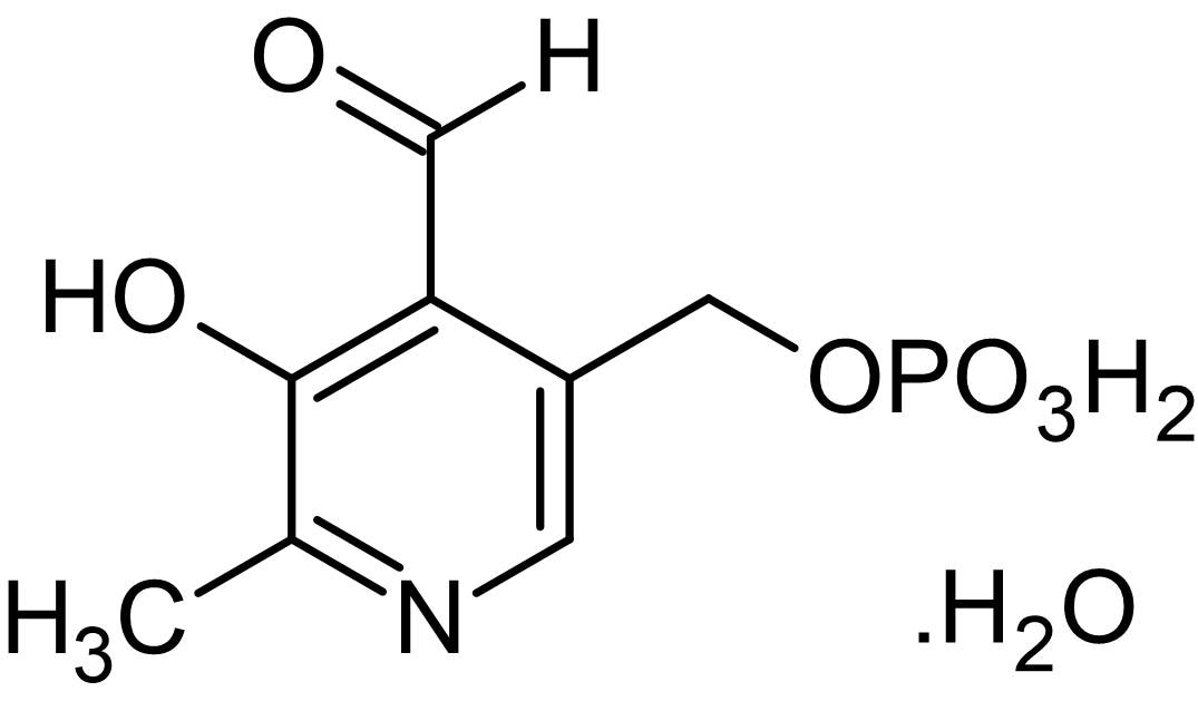 Chemical Structure - Pyridoxal- 5'-phosphate monohydrate, Vitamin B6 metabolite (ab146228)