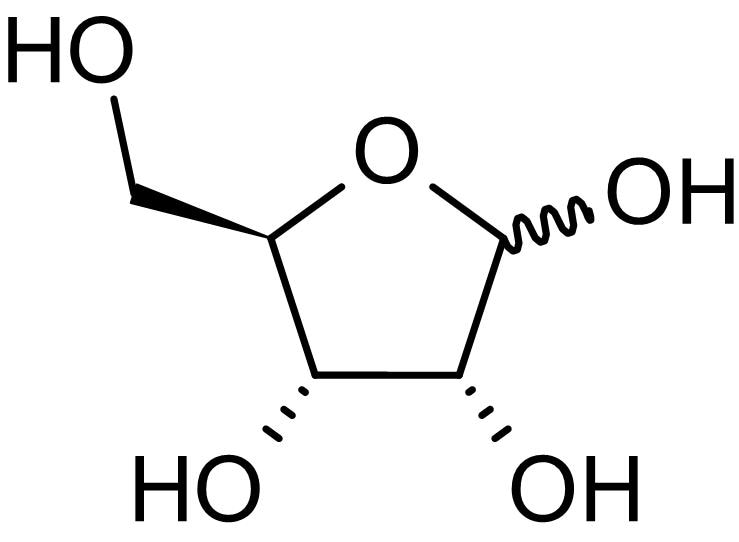 Chemical Structure - D-Ribose, Ribokinase substrate (ab146252)