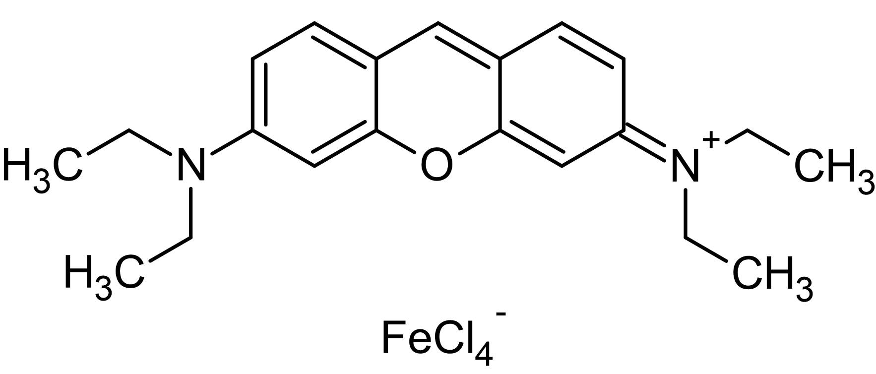 Chemical Structure - Pyronin B, Cationic dye (ab146261)