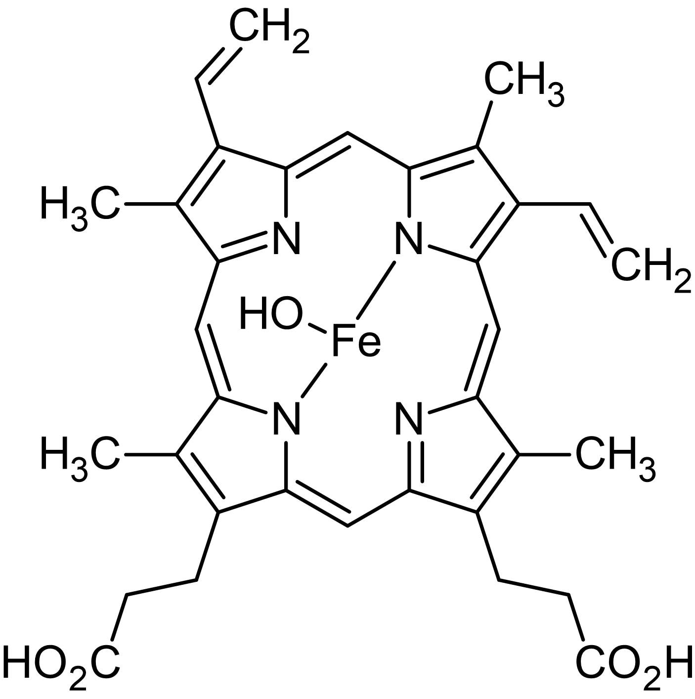 Chemical Structure - Hematin, Iron-containing porphyrin (ab146273)