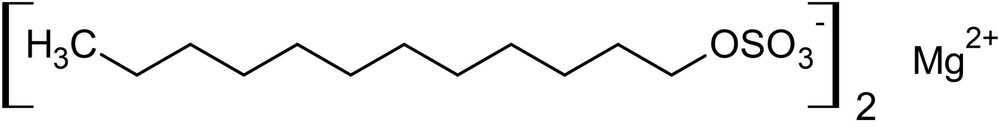 Chemical Structure - Magnesium dodecyl sulfate, Anionic detergent (ab146297)