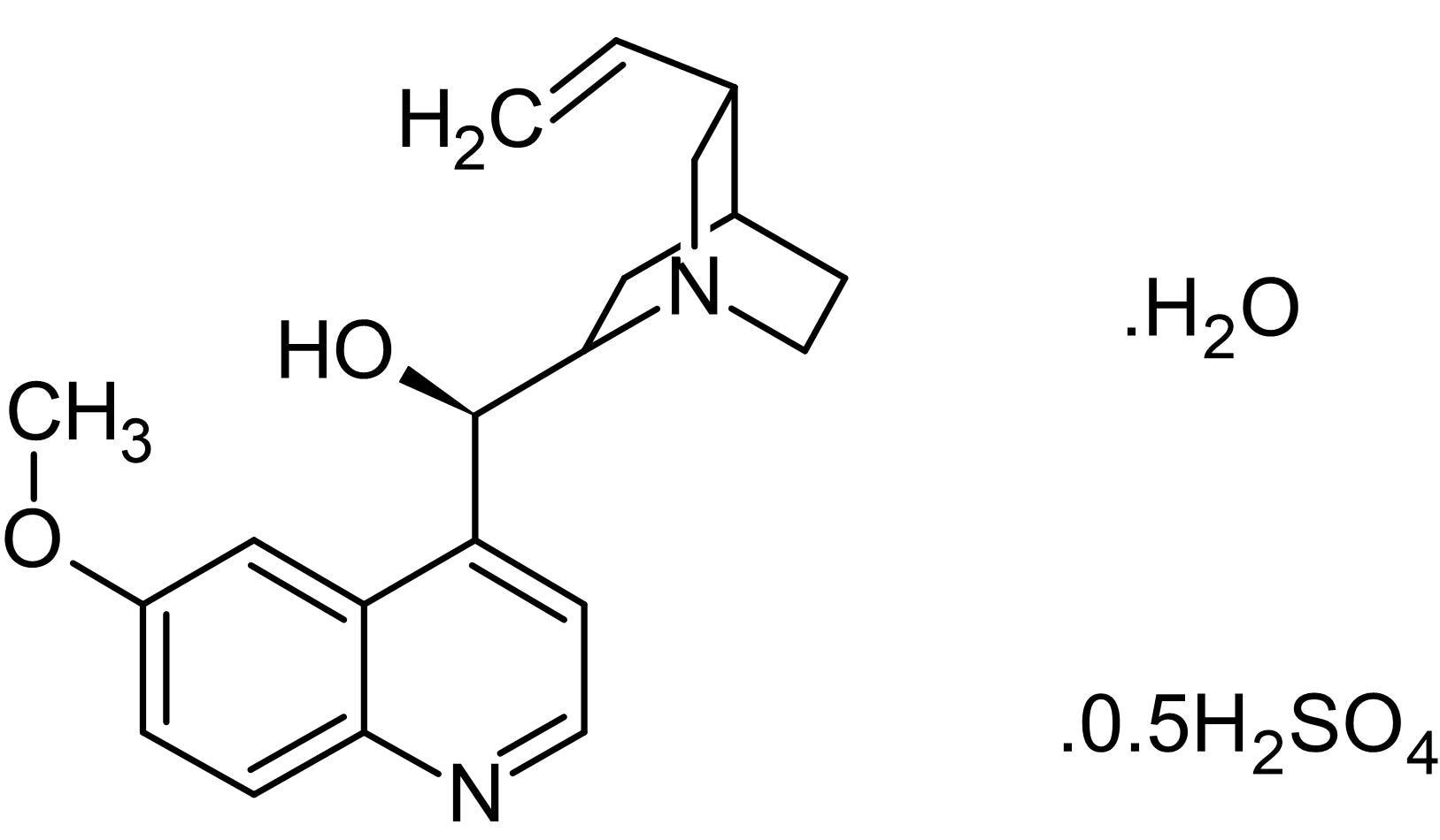 Chemical Structure - Quinine hemisulfate monohydrate, Potassium channel blocker (ab146327)
