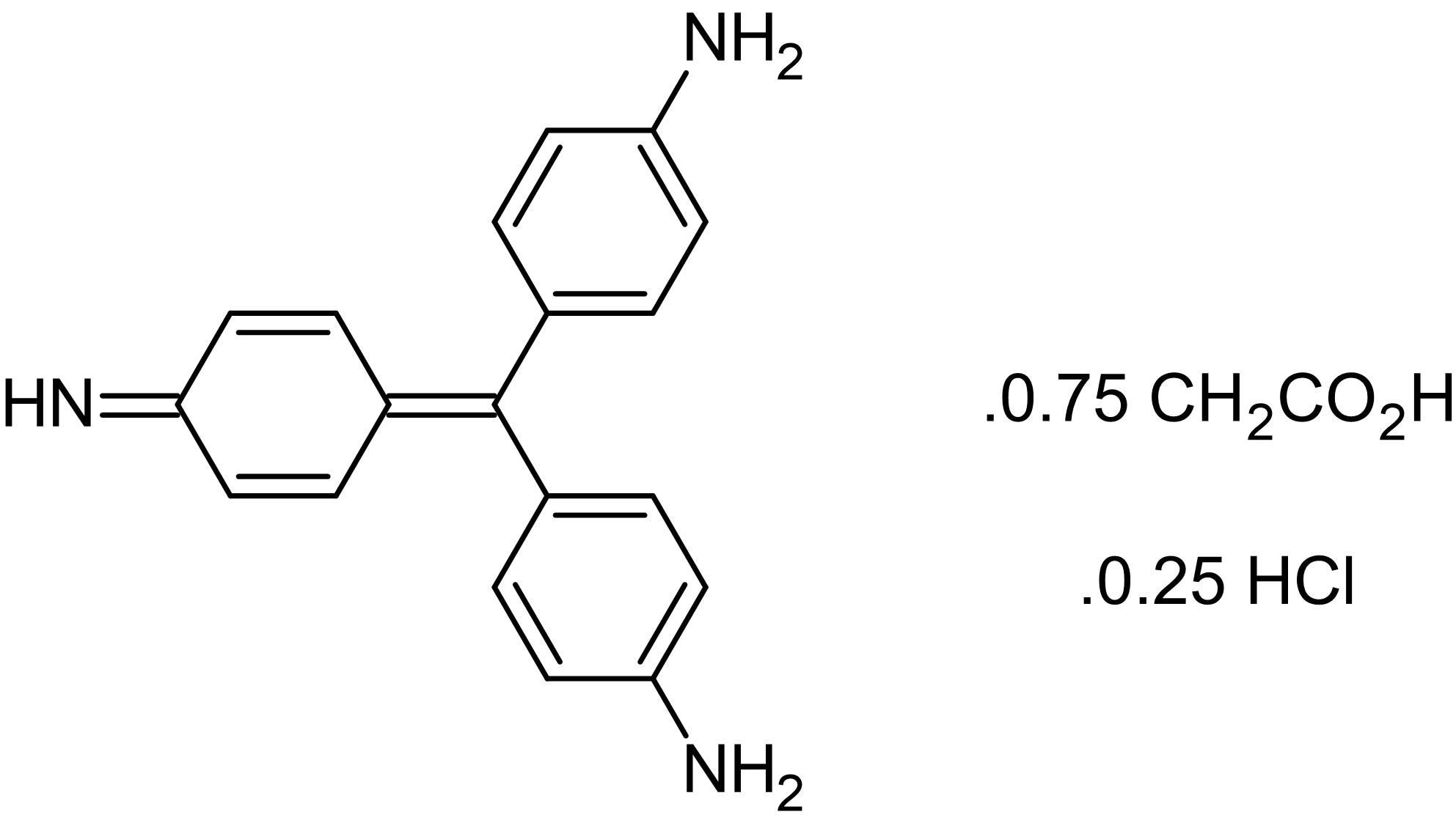 Chemical Structure - Basic fuchsin hydrochloride, Acid-fast stain (ab146335)