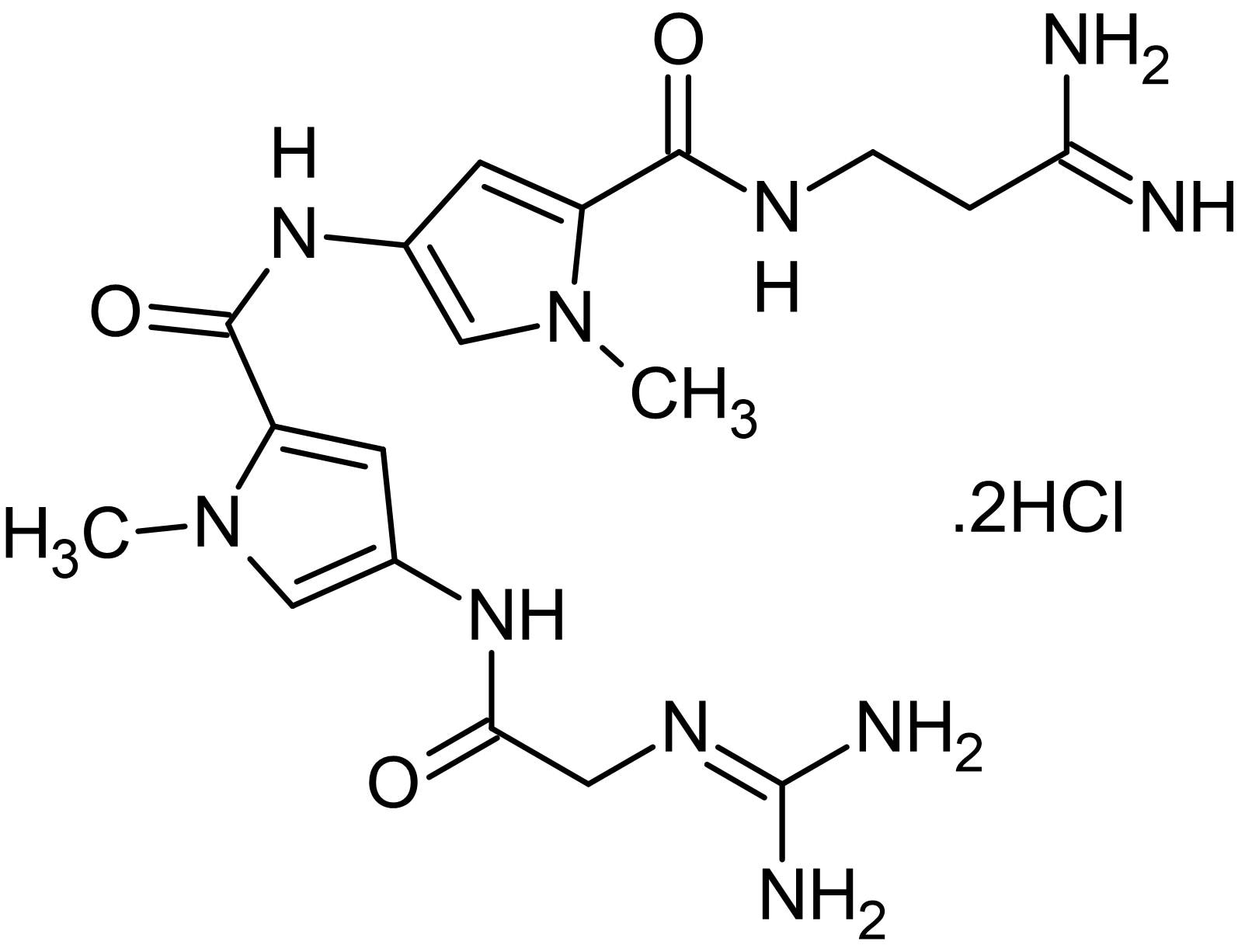Chemical Structure - Netropsin dihydrochloride, DNA minor groove binding ligand (ab146342)