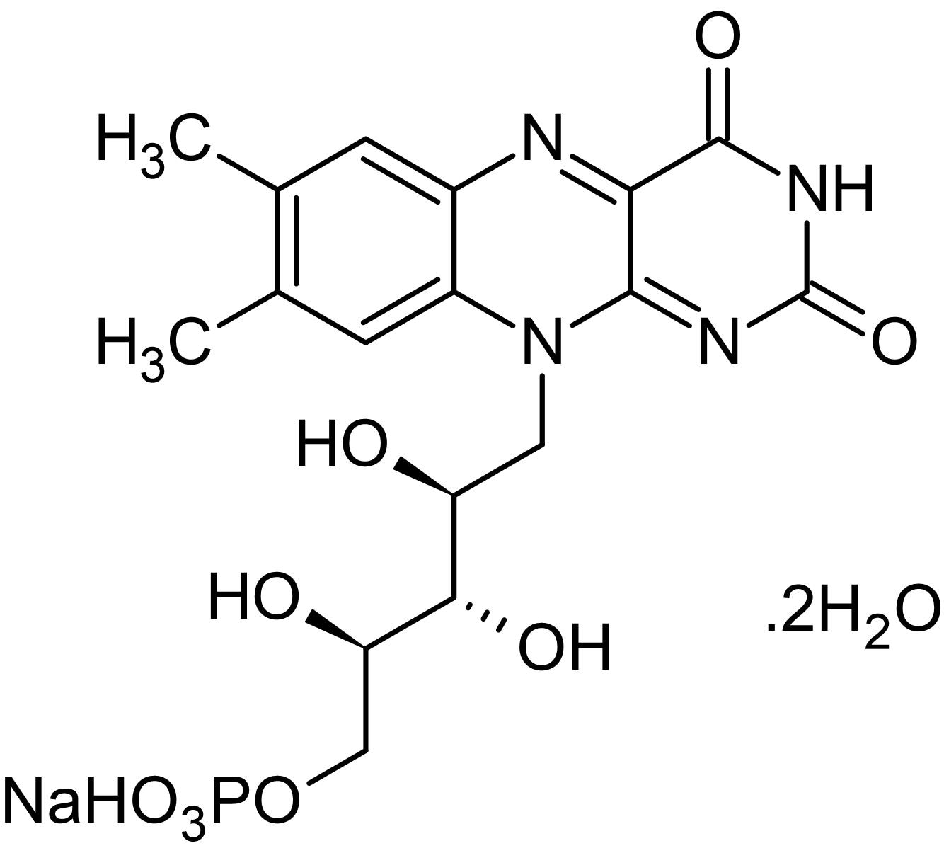 Chemical Structure - Riboflavin-5-phosphate sodium salt dihydrate, Enzyme cofactor (ab146349)