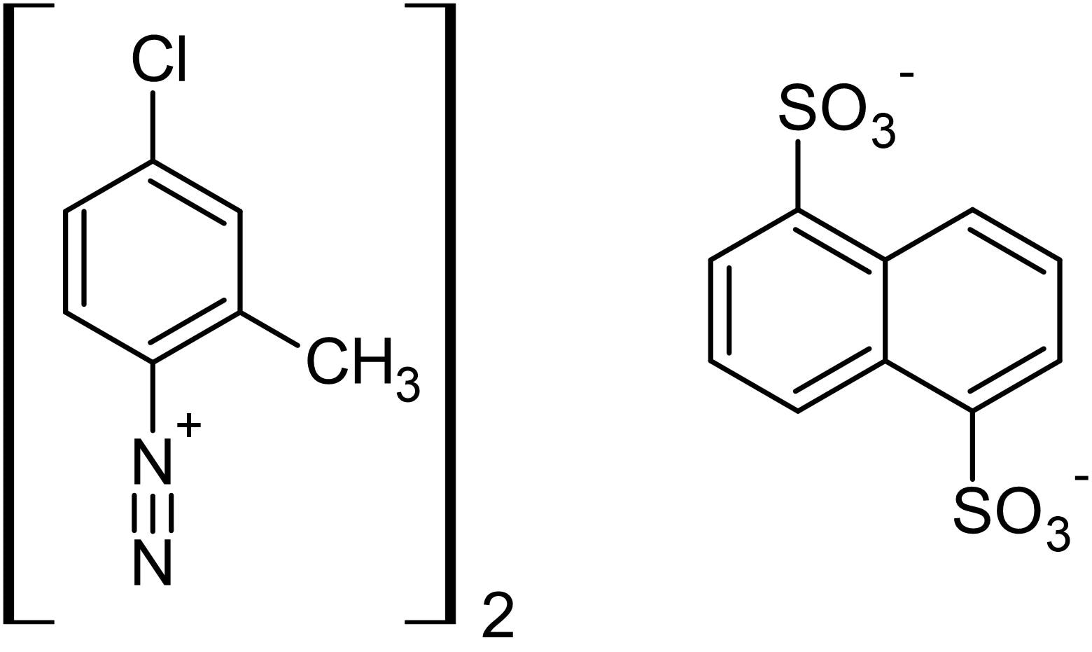 Chemical Structure - Fast red TR 1,5-naphthalenedisulfonate salt, Phosphatase detection reagent (ab146351)