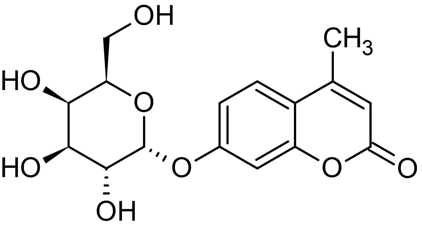 Chemical Structure - MU-alpha-GAL, Fluorogenic alpha-D-galactosidase substrate (ab146357)