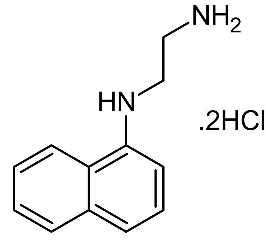 Chemical Structure - N-(1-Naphthyl)ethylenediamine dihydrochloride, coupling agent for spectrophotometric analysis (ab146395)