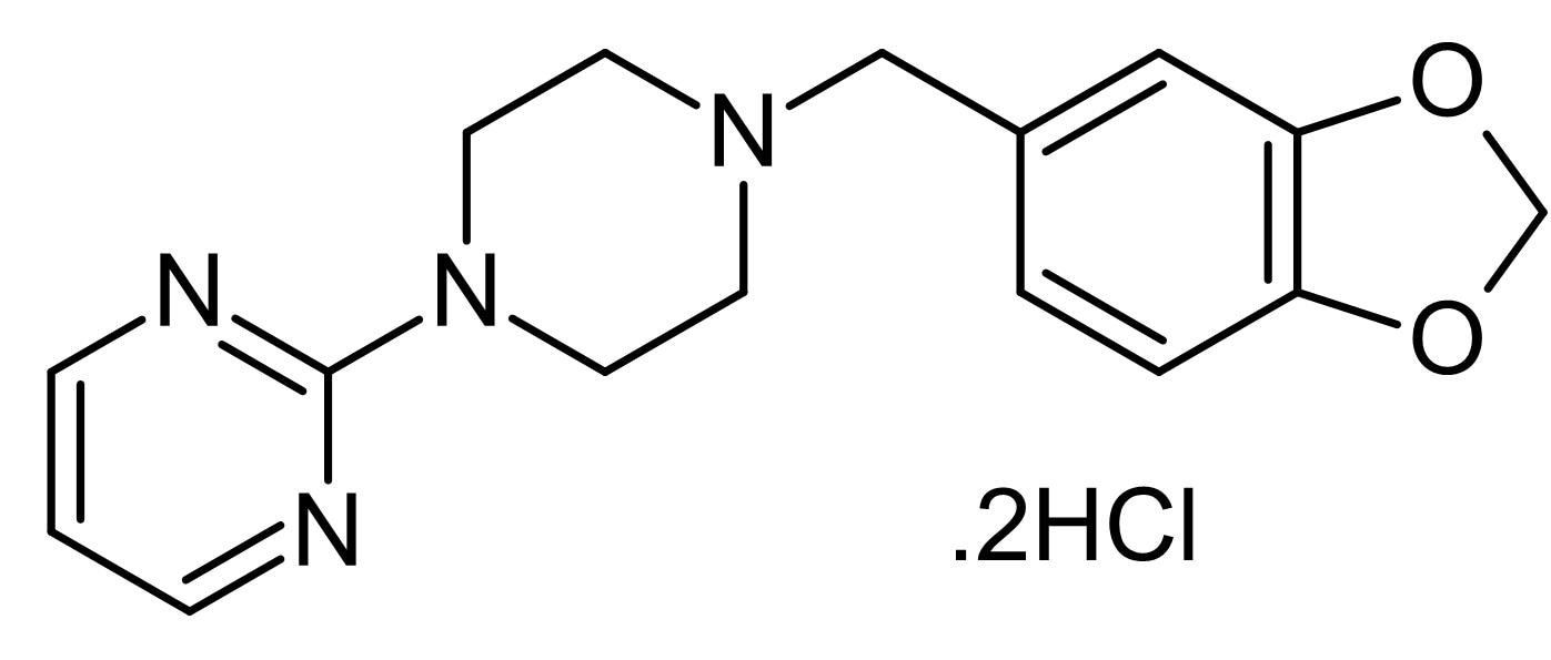Chemical Structure - Piribedil dihydrochloride, D<sub>2</sub>/D<sub>3</sub> dopamine receptor agonist (ab146432)