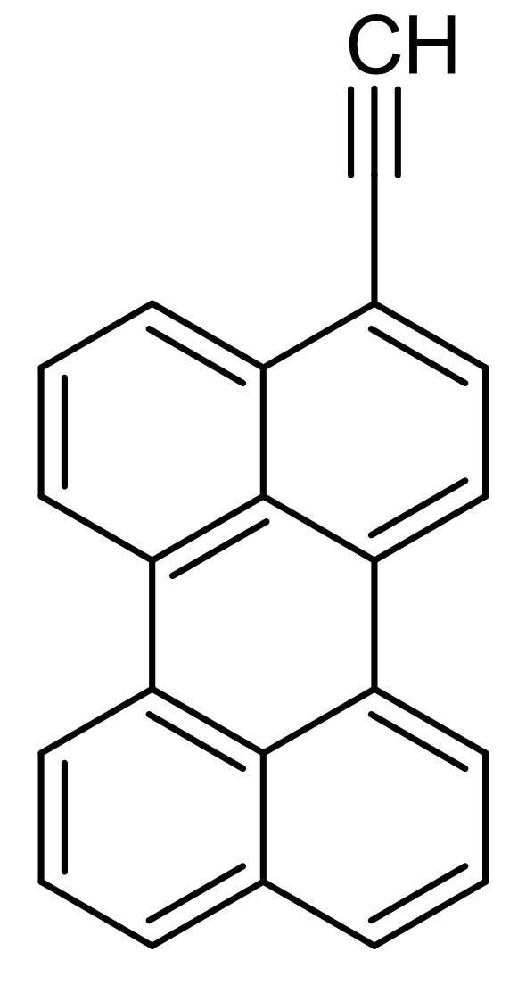 Chemical Structure - 3-Ethynyl perylene, Green emitting fluorescent dye (ab146443)