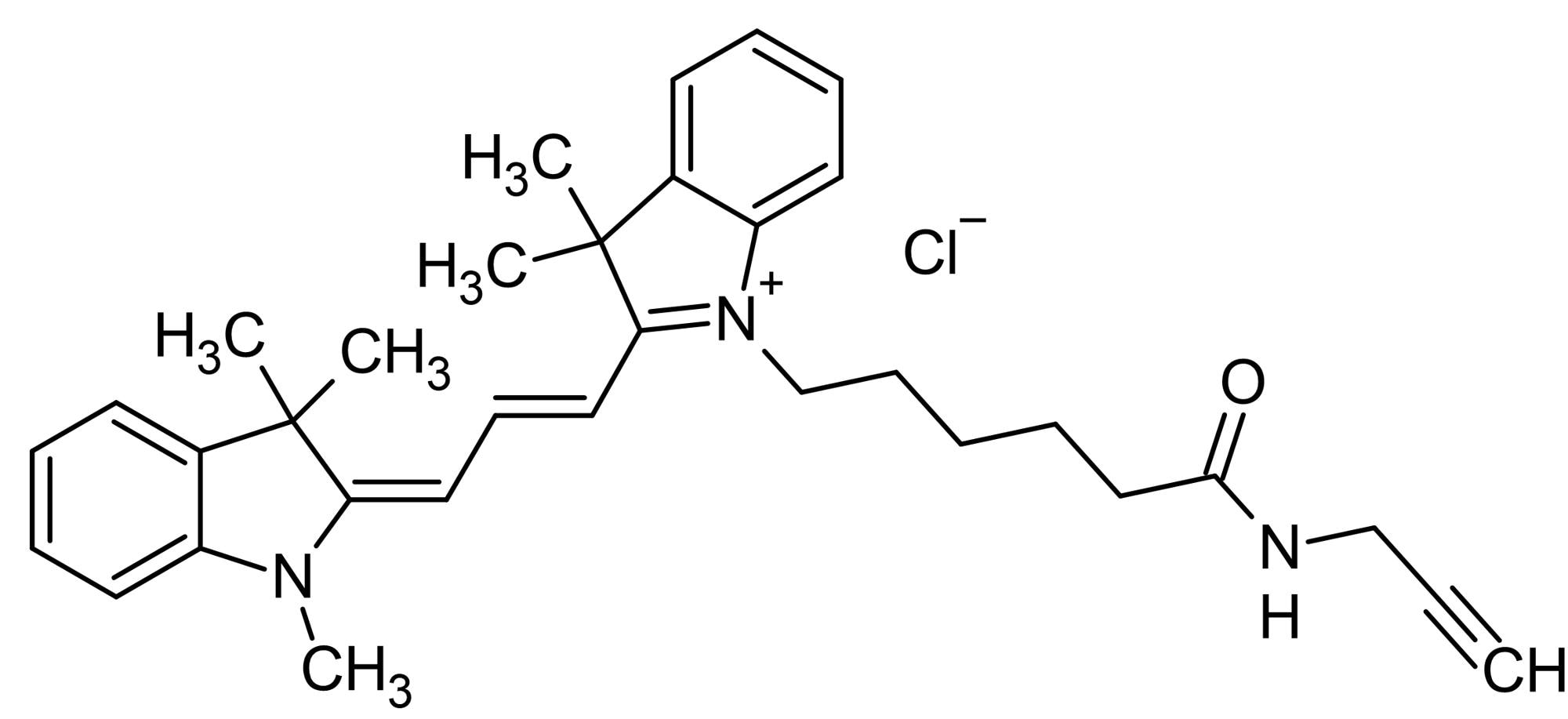 Chemical Structure - Cyanine3 alkyne, Yellow emitting fluorescent dye (ab146444)