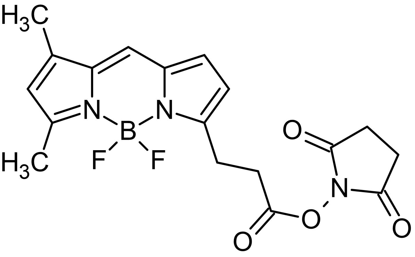 Chemical Structure - BDP FL NHS ester, Green emitting fluorescent dye (ab146451)