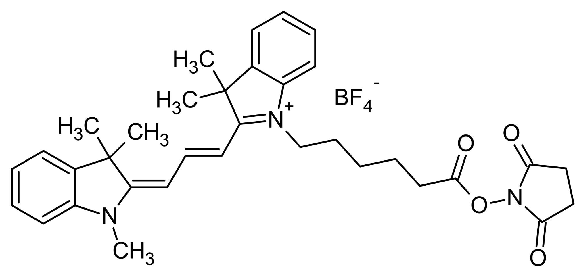 Chemical Structure - Cyanine3 NHS ester, Yellow emitting fluorescent dye (ab146452)