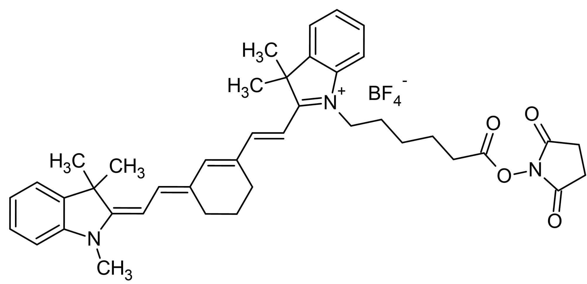 Chemical Structure - Cyanine7 NHS ester, Amine- reactive NIR emitting fluorescent dye (ab146456)