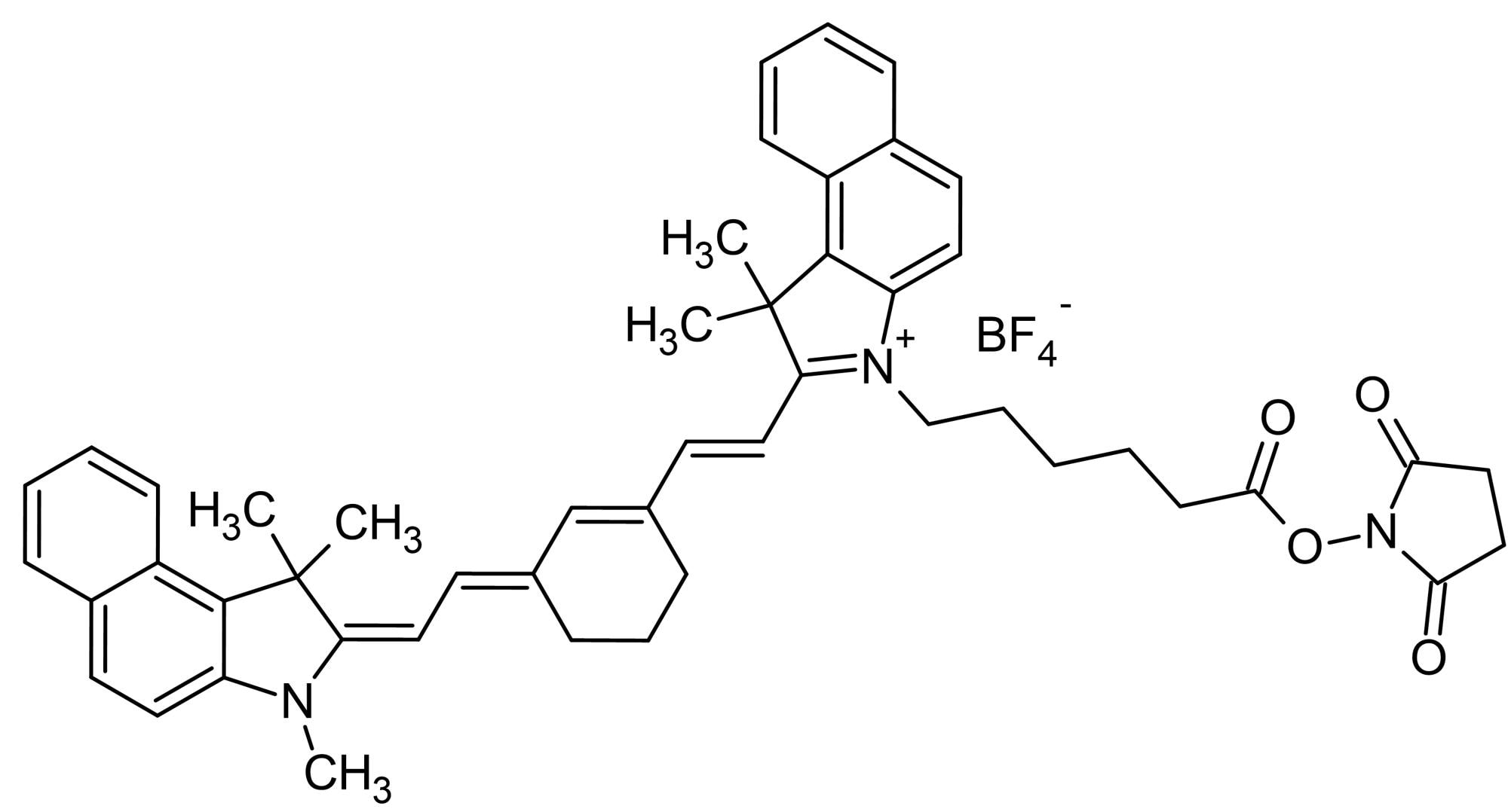 Chemical Structure - Cyanine7.5 NHS ester, Amine- reactive NIR emitting fluorescent dye (ab146457)