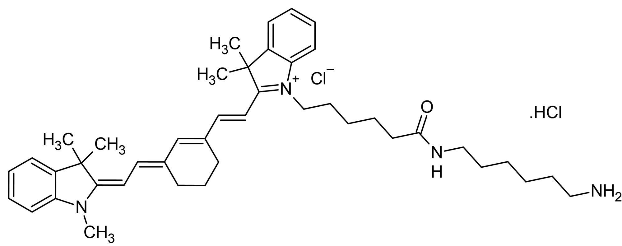 Chemical Structure - Cyanine7 amine, NIR emitting fluorescent dye (ab146465)