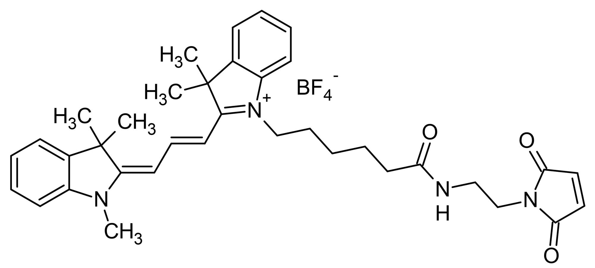 Chemical Structure - Cyanine3 maleimide, Yellow emitting fluorescent dye (ab146488)