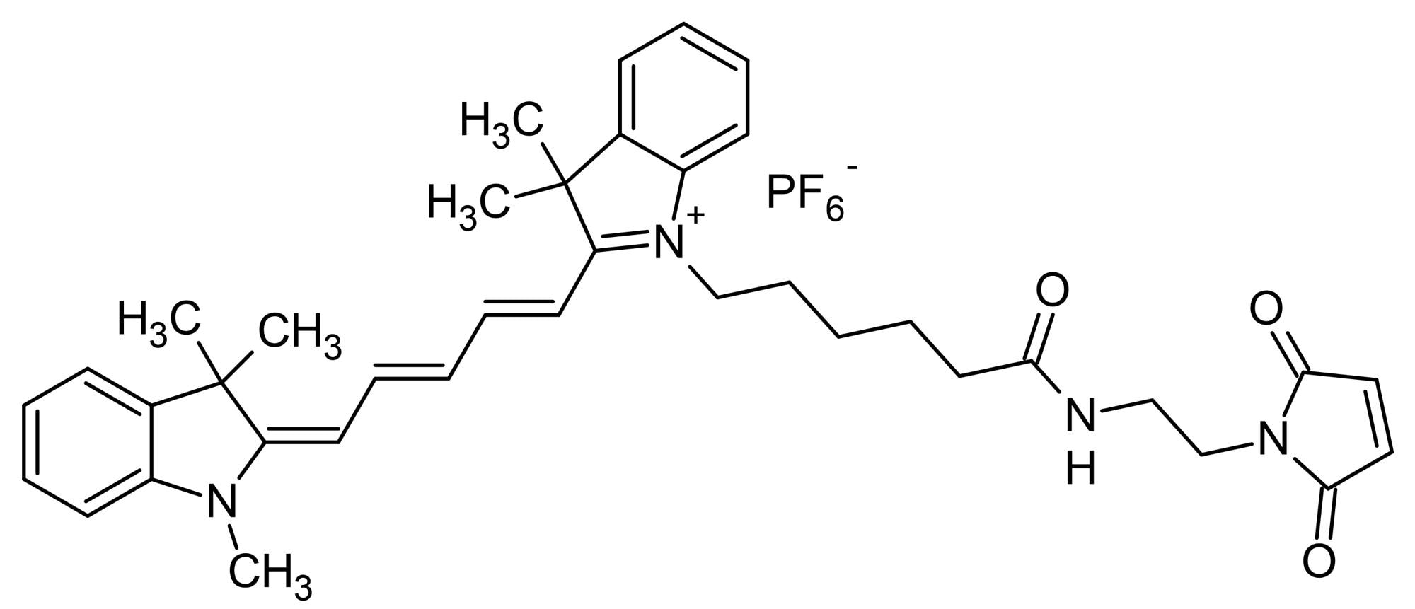 Chemical Structure - Cyanine5 maleimide, Red emitting fluorescent dye (ab146489)