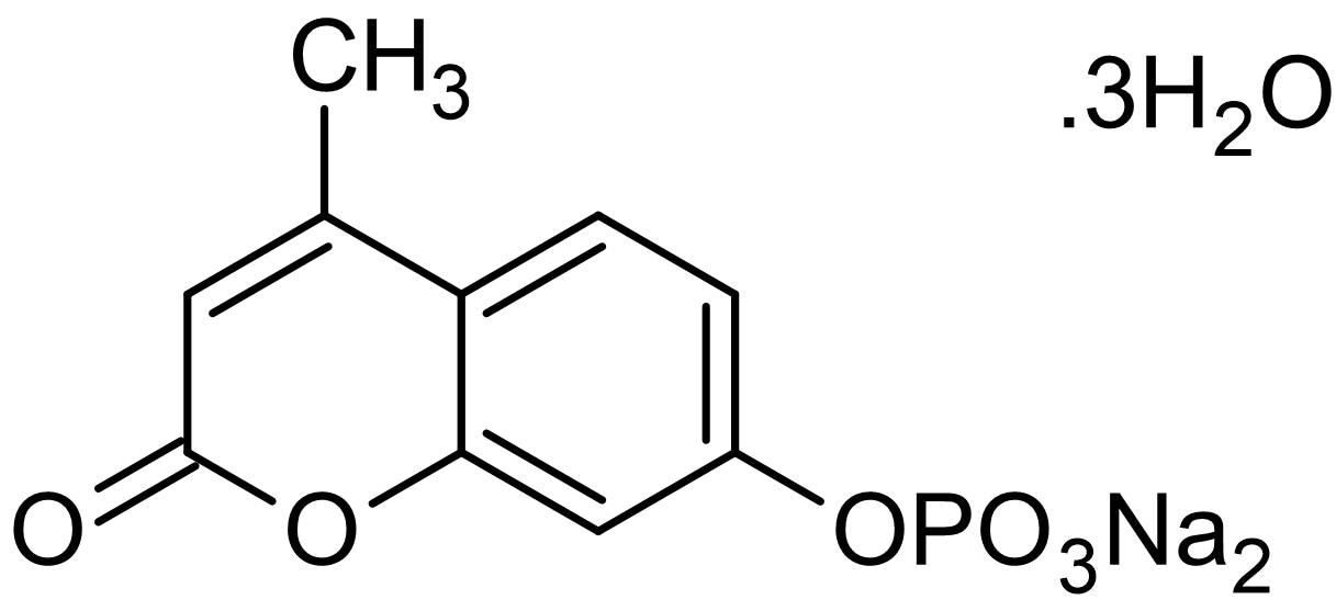 Chemical Structure - MUP disodium salt trihydrate, Fluorogenic phosphatase substrate (ab146521)