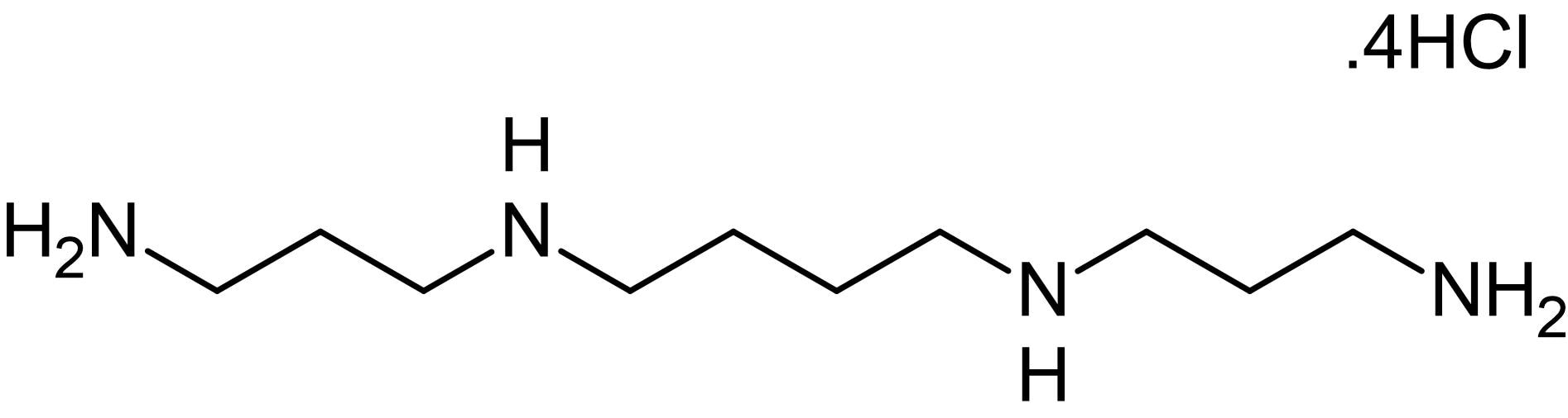 Chemical Structure - Spermine tetrahydrochloride, polyamine used for precipitation of DNA (ab146523)