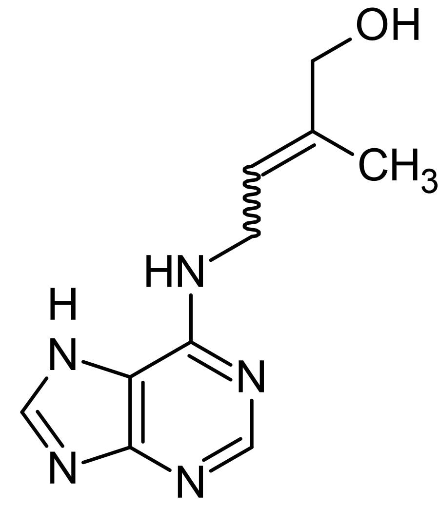 Chemical Structure - Zeatin, cytokinin growth regulator (ab146530)