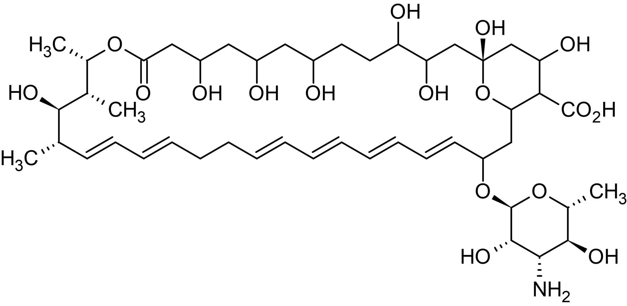 Chemical Structure - Nystatin (aqueous), polyene macrolide antifungal (ab146576)