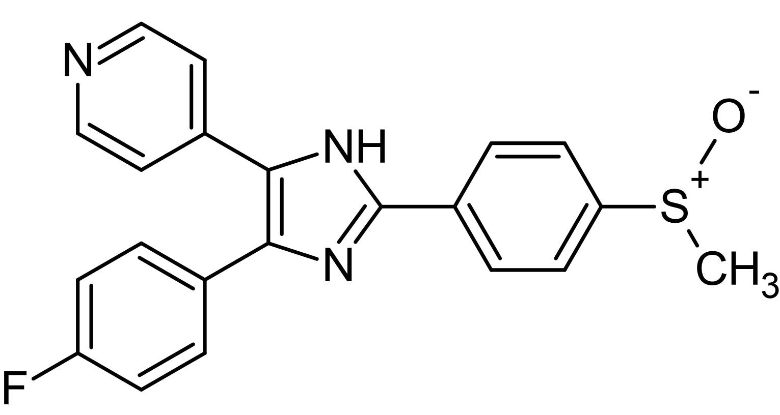Chemical Structure - SB 203580 (DMSO solution), p38 MAPK inhibitor (ab146589)