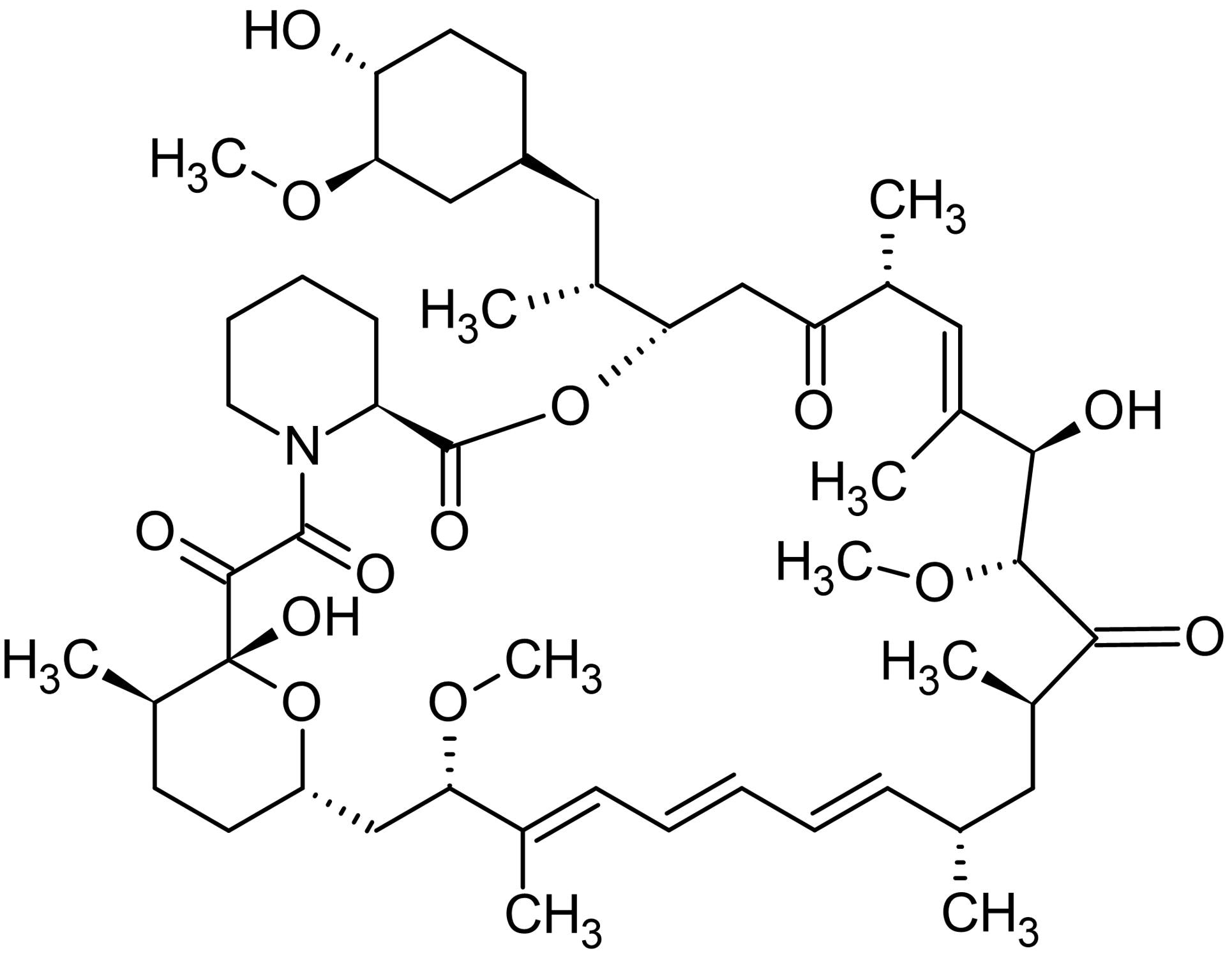 Chemical Structure - Rapamycin (DMSO solution), immunosuppressant (ab146591)