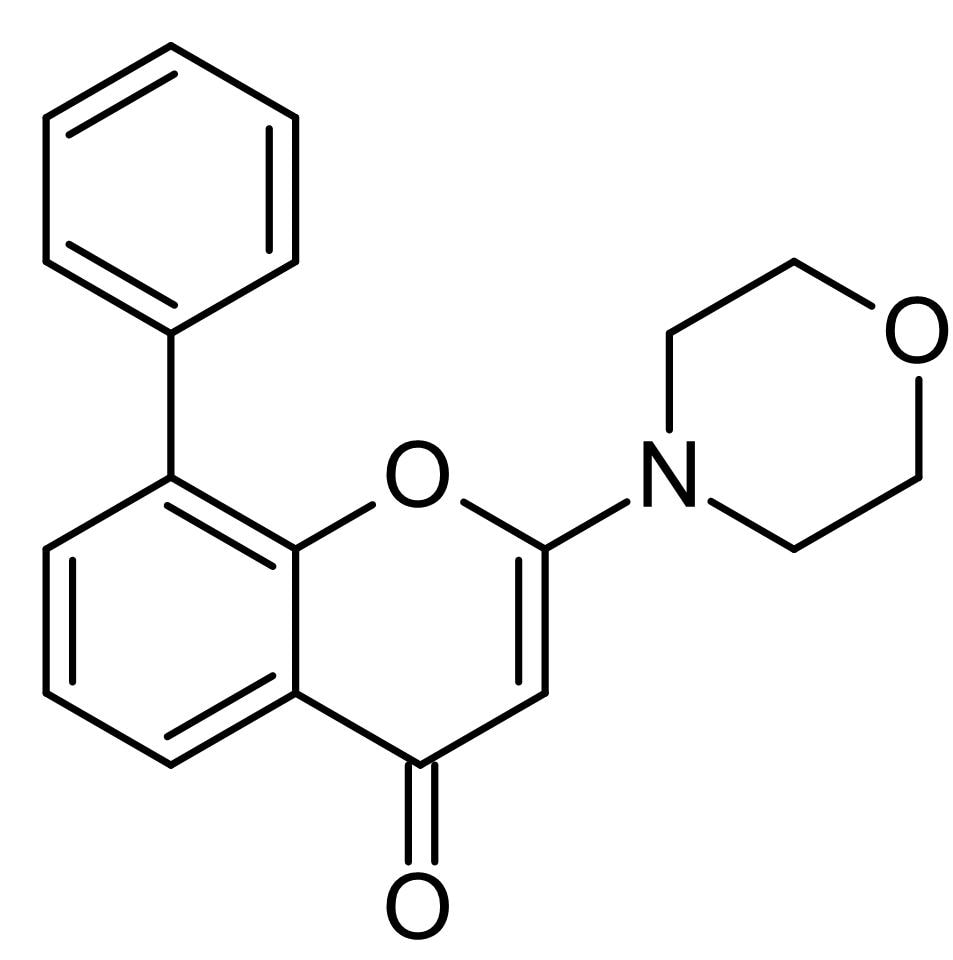 Chemical Structure - LY 294002 (DMSO solution), PI3-kinase inhibitor (ab146593)