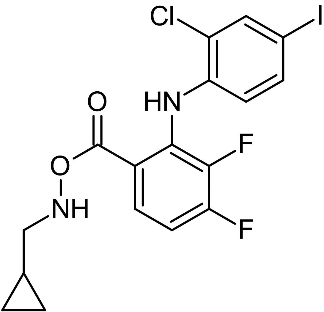 Chemical Structure - PD 184352 (CI-1040) (DMSO solution), MEK1/2 inhibitor (ab146601)
