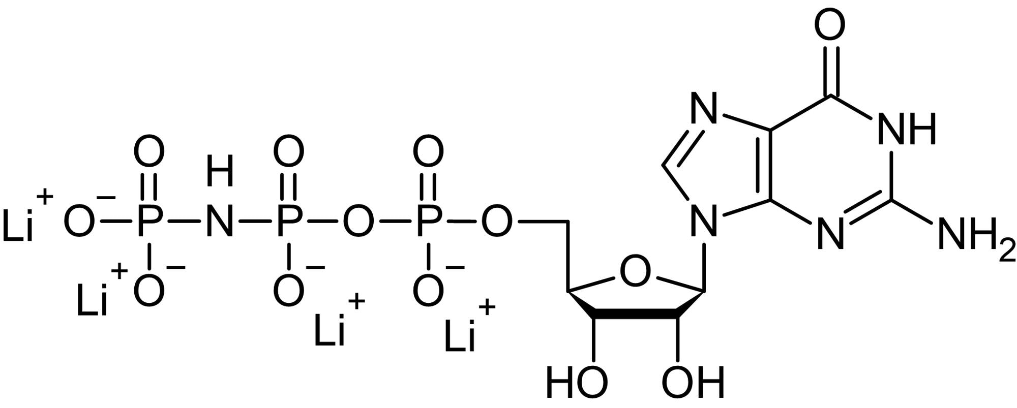 Chemical Structure - GppNHp, Non-hydrolyzable GTP analog (ab146659)