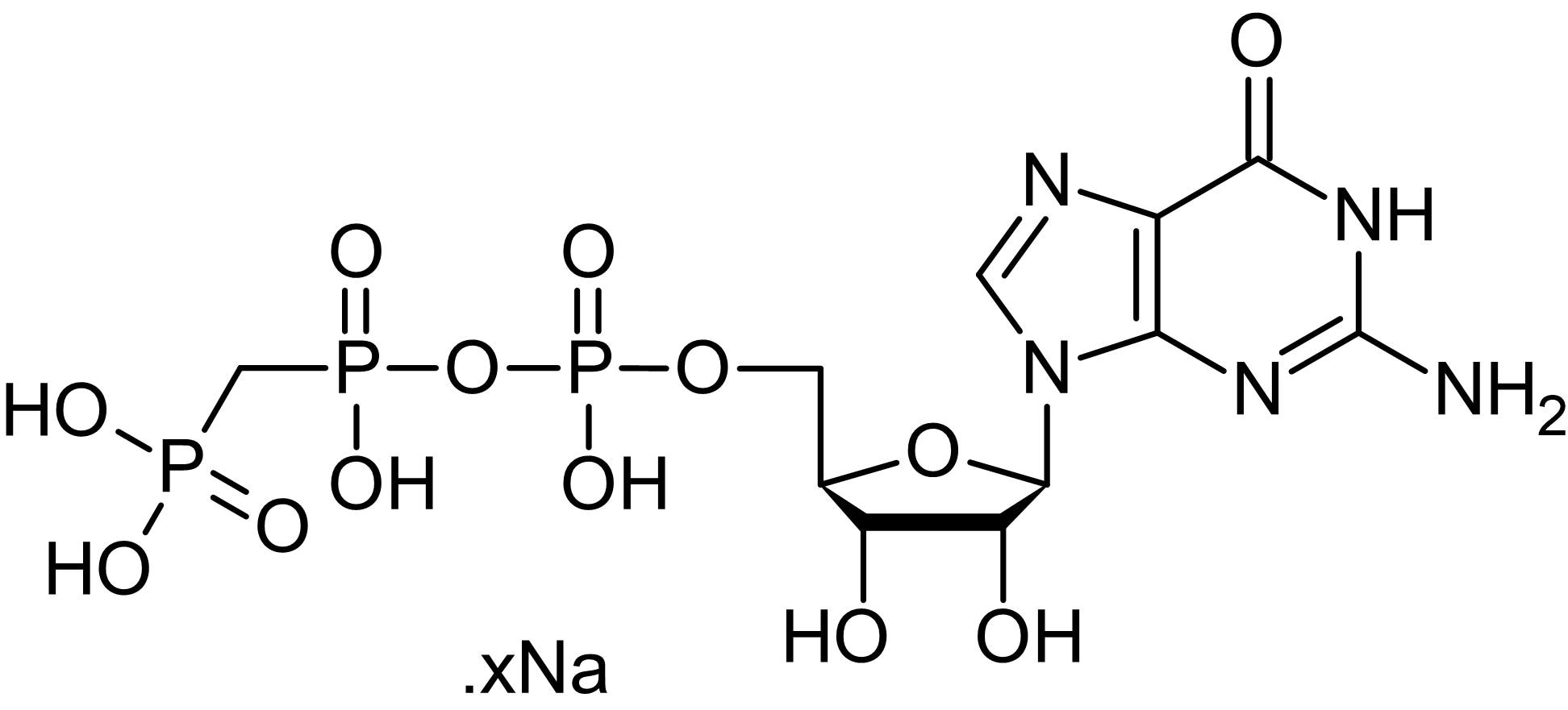 Chemical Structure - GppCp (GMPPCP), Nonhydrolyzable GTP analog (ab146660)