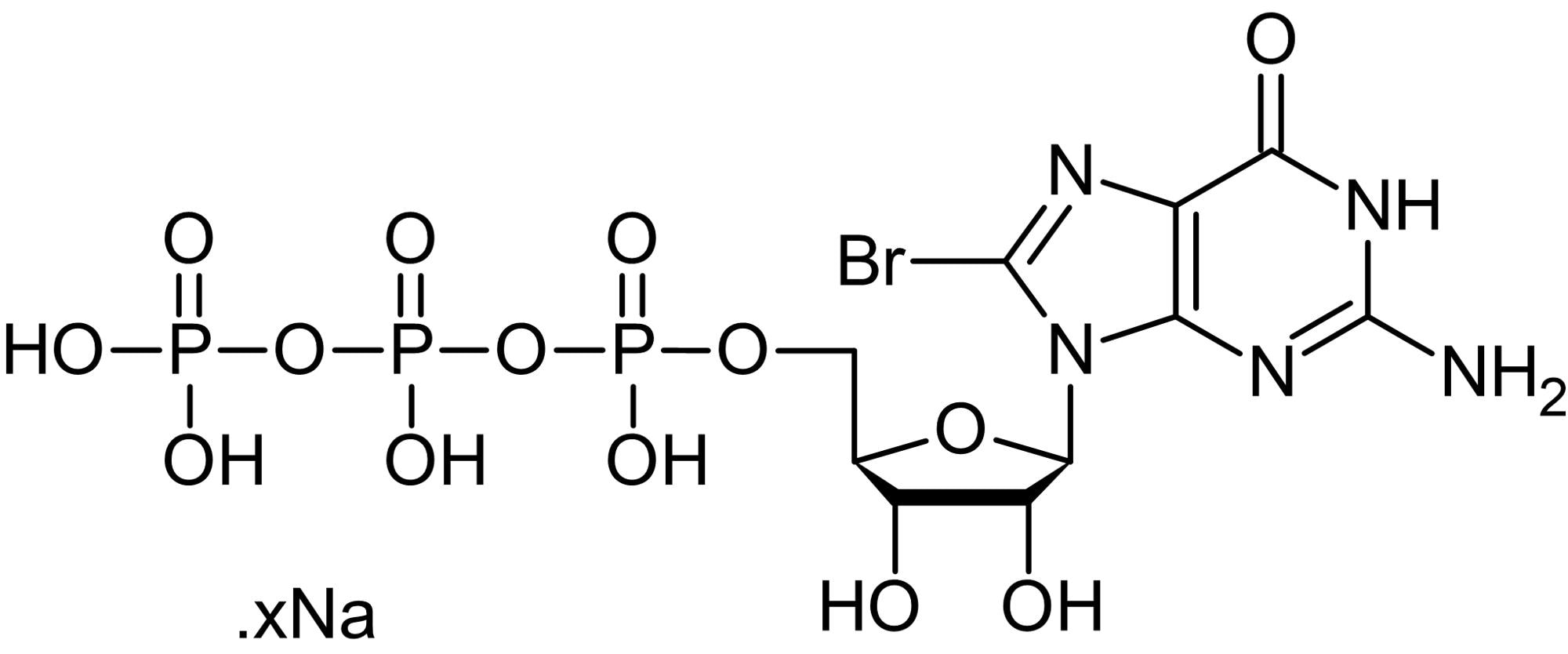 Chemical Structure - 8-Bromo-GTP (aqueous solution), GTP analog (ab146753)