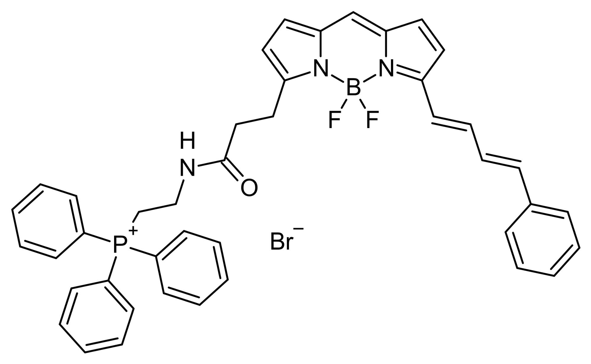 Chemical Structure - MitoPerOx, fluorescent mitochondria-targeted lipid peroxidation probe (ab146820)