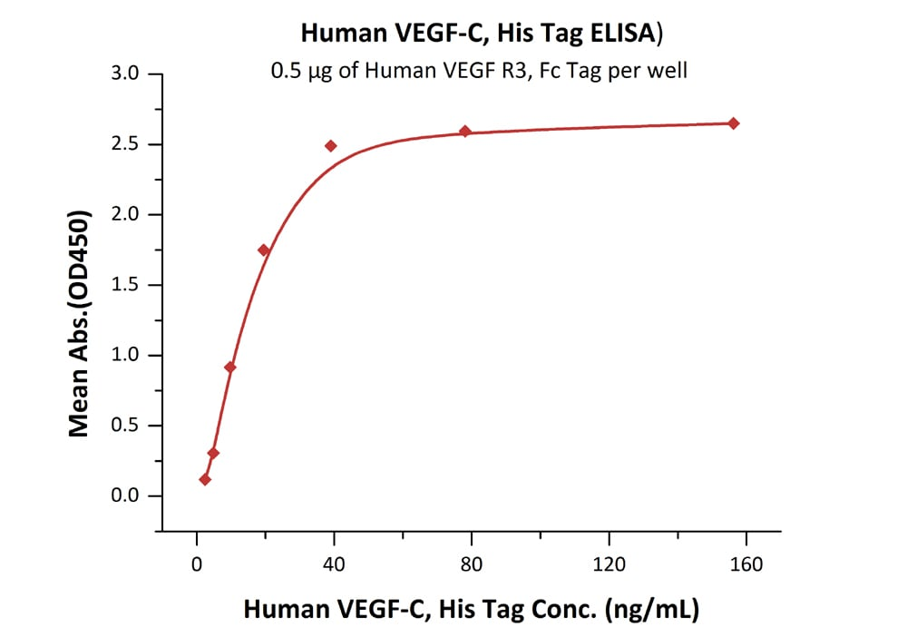 Functional Studies - Recombinant human VEGFC protein (ab155739)