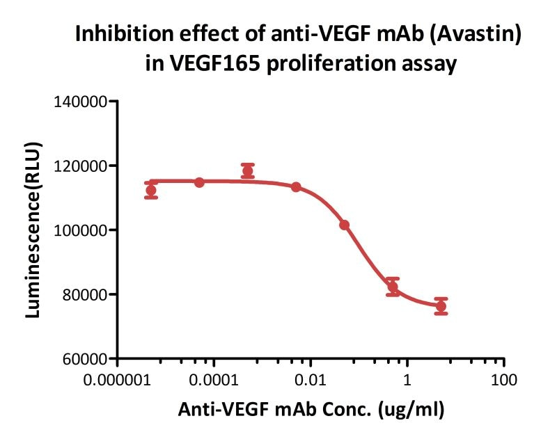 Functional Studies - Recombinant human VEGFA protein (ab155740)