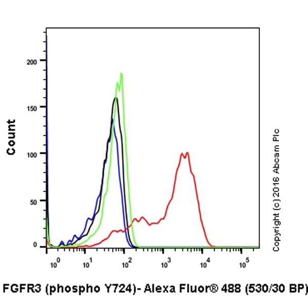 Flow Cytometry - Anti-FGFR3 (phospho Y724) antibody [EPR2281(3)] (ab155960)