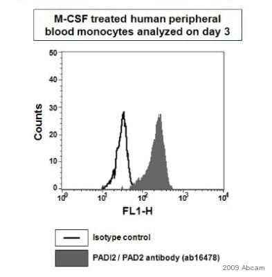 Flow Cytometry - Anti-PADI2 / PAD2 antibody (ab16478)
