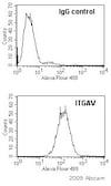 Flow Cytometry - Anti-Integrin alpha V antibody [272-17E6] - BSA and Azide free (ab16821)