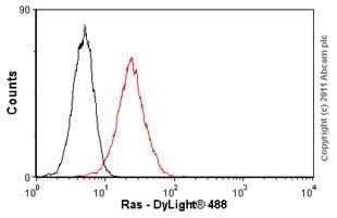 Flow Cytometry - Anti-Ras antibody [F132-62] (ab16907)