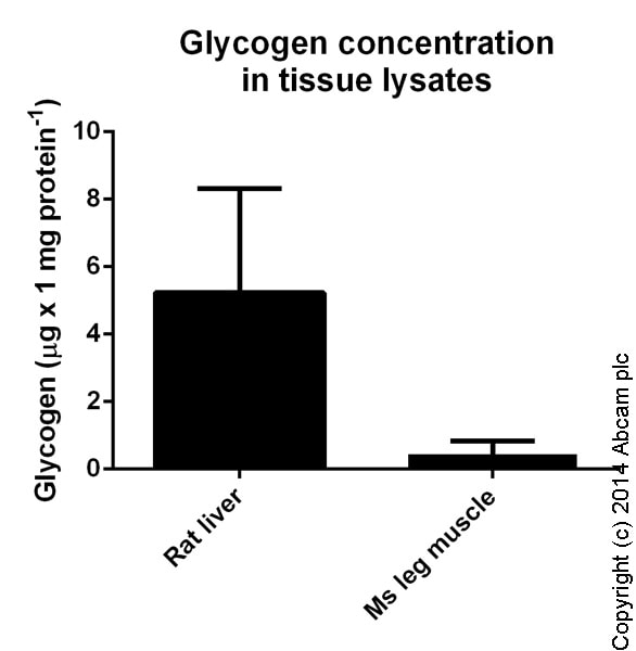 Functional Studies - Glycogen Assay Kit II (Colorimetric) (ab169558)
