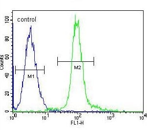 Flow Cytometry - Anti-GLMN antibody - C-terminal (ab170776)