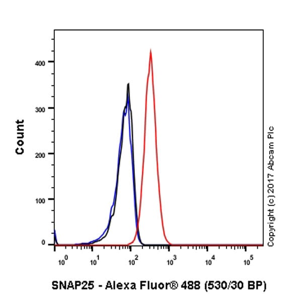 Flow Cytometry - Anti-SNAP25 antibody [EPR3275] - BSA and Azide free (ab171355)