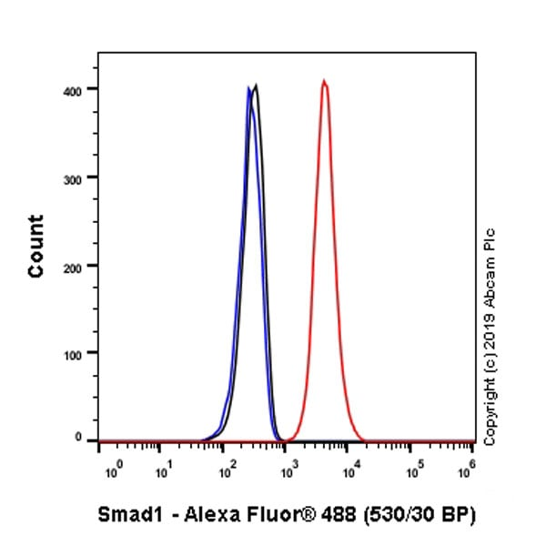 Flow Cytometry - Anti-Smad1 antibody [EP565Y] - BSA and Azide free (ab172642)