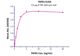 ELISA - Recombinant human TNF Receptor I protein (Fc Chimera Active) (ab174046)